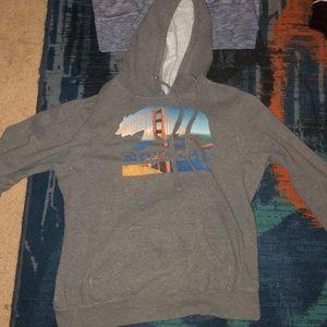 Sweaters - north cal grey hoodie